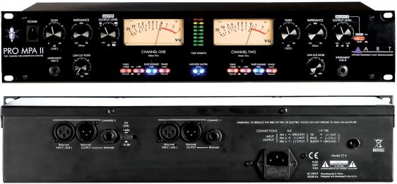 ART Pro MPA-II Two Channel Mic Preamp