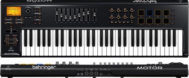 Behringer MOTÖR 61 61-Key MIDI Keyboard Controller