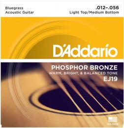 D'Addario EJ19 Phosphor Bronze Bluegrass Light Top/Medium Bottom Acoustic Guitar Strings
