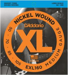 D'Addario EXL160 Gauge Nickel Wound Electric Bass Guitar Strings
