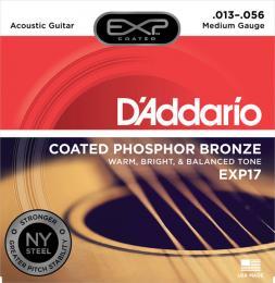 D'Addario EXP17 Coated Phosphor Bronze Medium Acoustic Guitar Strings