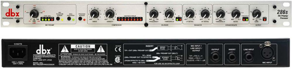 DBX 286s Channel Strip & Mic Preamp