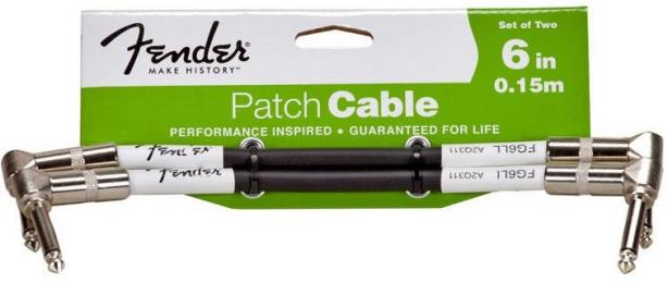 "Fender Performance Series Guitar Patch Cable 6"" 2-Pack"