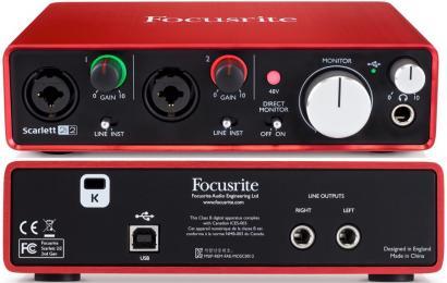 Focusrite Scarlett 2i2 2nd Gen USB Audio Interface 2-Channel