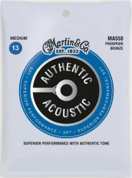 Martin MA550 Authentic SP Acoustic Guitar Strings Phosphor Bronze (Medium)