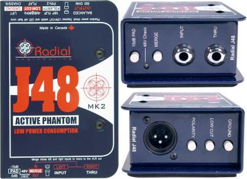 Radial J48 48V Phatom-Powered Active Direct Box
