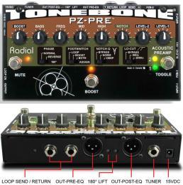 Radial Tonebone PZ-Pre Acoustic Preamp DI Box