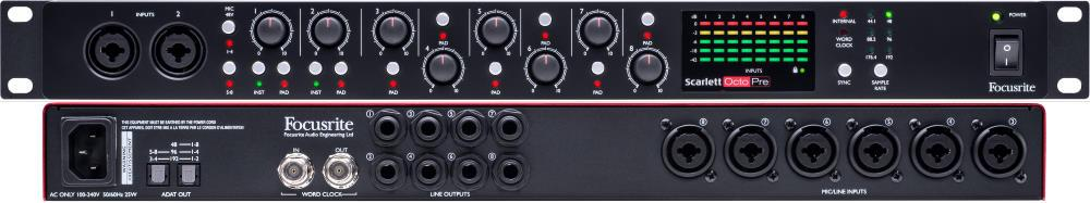 Focusrite Scarlett OctoPre 8-channel Microphone Preamp