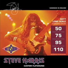 Rotosound SH77 Steve Harris Signature Monel Flatwound Long Scale Bass Guitar Strings