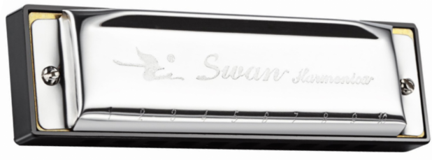 Swan 10 Hole 20 Tone Harmonica - Key of C
