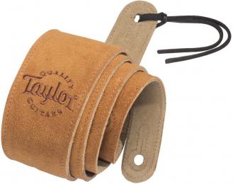 Taylor Guitars Honey Suede Logo Acoustic Guitar Strap