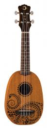 Luna Guitars Tattoo Mahogany Pineapple Ukulele