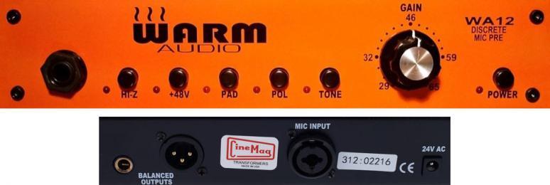 Warm Audio WA12 Mic Preamp