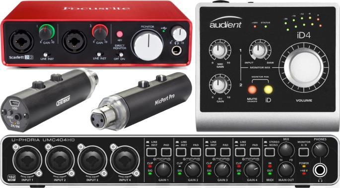 Budget audio interfaces