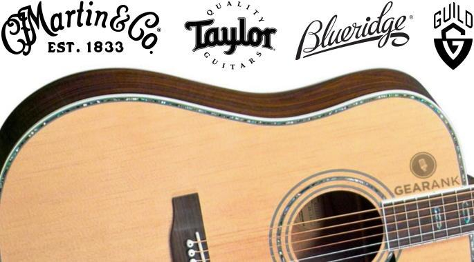 The Highest Rated Acoustic Guitars