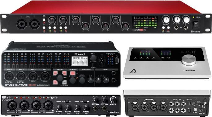 The Best Usb Audio Interfaces 4 8 16 Channel Gearank