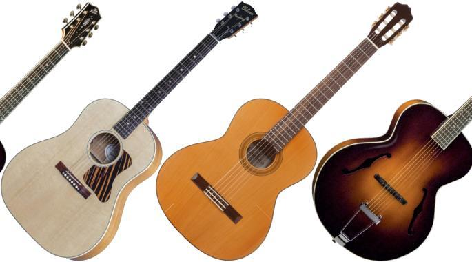 the different types of acoustic guitars explained gearank. Black Bedroom Furniture Sets. Home Design Ideas