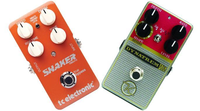 Vibrato and Tremolo pedals