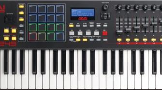 49 key MIDI controller keyboard