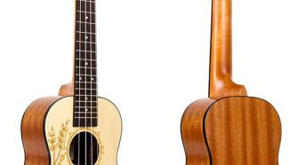 Kmise Solid Spruce Hawaii Concert Acoustic-Electric Ukulele