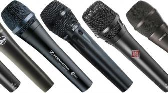Live singing microphones