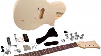 Saga LJ-10 DIY Electric Guitar Kit - LP Jr. Style