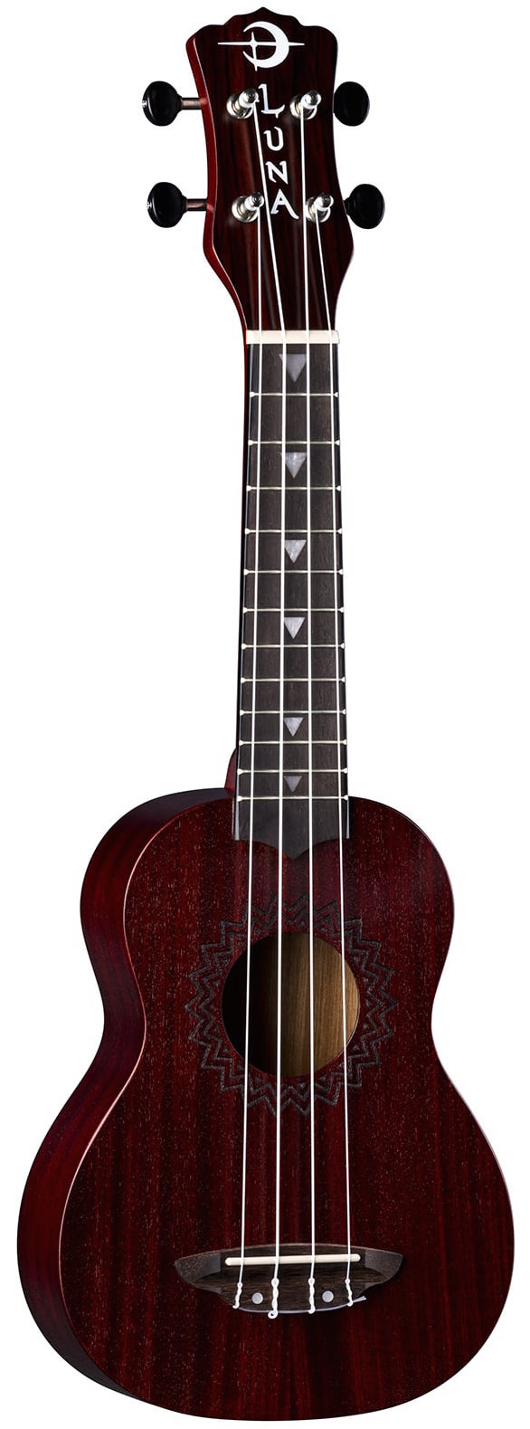 Luna Guitars UKE VMS RDS Vintage Mahogany Soprano Ukulele - Satin Red