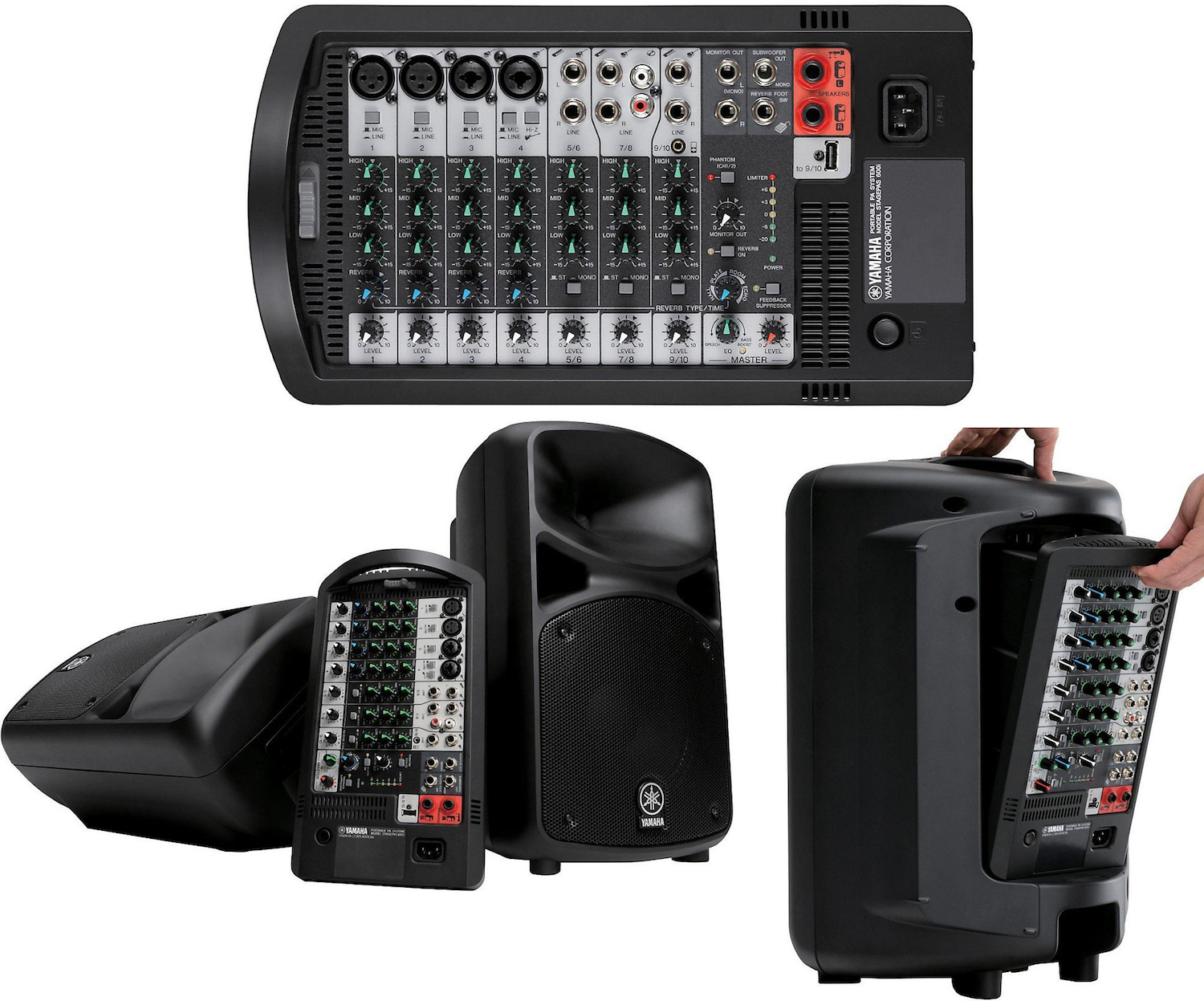 The best portable compact pa systems battery powered for Yamaha stagepas review